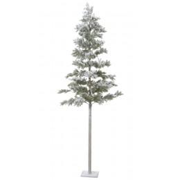 Χριστουγεννιάτικο Δέντρο Slim Plastic Χιονισμένο 240εκ