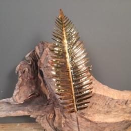Διακοσμητικό Κλαδί Χρυσά Τροπικά Γυαλιστερά Φύλλα 100εκ