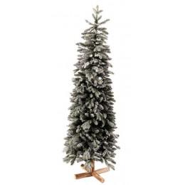 Χριστουγεννιάτικο Δέντρο Έλατο Διπλό Φύλλωμα Χιονισμένο Φυσικό Κορμό 2.10μ