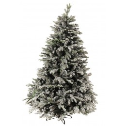 Χριστουγεννιάτικο Δέντρο Έλατο Διπλό Φύλλωμα Χιονισμένο Γκλίτερ 1.80μ