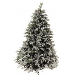 Χριστουγεννιάτικο Δέντρο Έλατο Διπλό Φύλλωμα Χιονισμένο Γκλίτερ 2.40μ