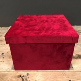 Κουτί Λουλουδιών Κόκκινο Βελούδινο 26εκ