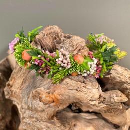 Αξεσουάρ Μαλλιών Νύφης Στεφανάκι Υπέρικουμ Τραχίλιουμ Rice Flower Safari