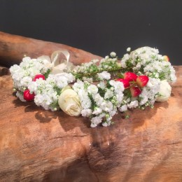 Αξεσουάρ Μαλλιών Νύφης Στεφανάκι Γυψοφύλλη Υπέρικουμ Τριαντάφυλλα