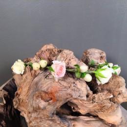 Αξεσουάρ Μαλλιών Νύφης Στεφανάκι Μίνι Τριαντάφυλλα