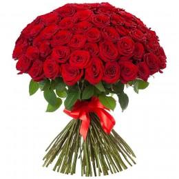 Μπουκέτο Τριαντάφυλλα Κόκκινα 75τμχ