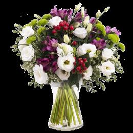Ανθοδέσμη Λουλούδια Λυσίανθος Χρυσάνθεμα Αλστρομέρια Υπέρικουμ Πρασινάδα