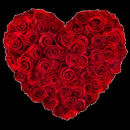 Καρδιά 80 Κόκκινα Τριαντάφυλλα