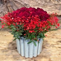 Μπουκέτο Τριαντάφυλλα Κασπώ Διακοσμητικό Κεραμικό Λευκό Ιδιαίτερο Σχέδιο 17*14εκ