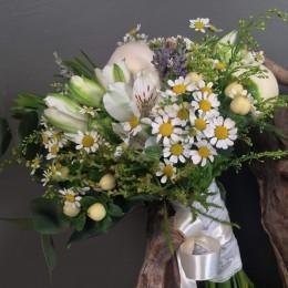 Νυφική Ανθοδέσμη Γάμου Λεβάντα Παιώνιες Λουλούδια Του Αγρού