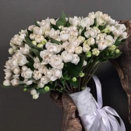 Νυφικό Μπουκέτο Γάμου Λευκή Μπουβάρδια