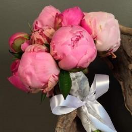 Νυφικό Μπουκέτο Γάμου Ροζ & Φούξια Παιώνιες
