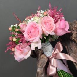 Νυφική Ανθοδέσμη Γάμου Αποχρώσεις Του Ροζ
