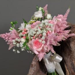 Νυφική Ανθοδέσμη Γάμου Τριανταφυλλα Λυσίνθος Αστίλμπ Χαμομήλι Φρέζια