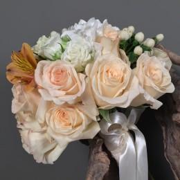Νυφικό Μπουκέτο Γάμου Ορτανσία Τριαντάφυλλα Ορτανσία Αλστρομέρια
