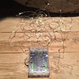 40 Led Λαμπάκια Διακόσμησης Φως Ημέρας Σύρμα Μπαταρία