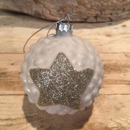 Χριστουγεννιάτικη Μπάλα Γυάλινη Αστέρι 8εκ