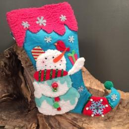 Χριστουγεννιάτικη Κάλτσα Παιδική Χιονάνθρωπος 47εκ