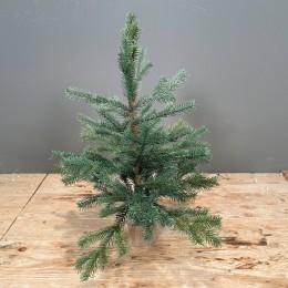 Μικρό Χριστουγεννιάτικο Δέντρο Plastic Ξύλινη Βάση 38εκ