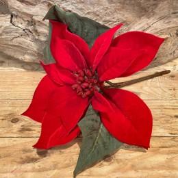 Χριστουγεννιάτικο Κλαδί Αλεξανδρινό Κόκκινο Βελούδινο Χ