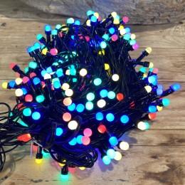 Χριστουγεννιάτικα Λαμπάκια 240 LED Πράσινο Καλώδιο Πολύχρωμα Milky Πρόγραμμα Εξωτερικού Χώρου 31W