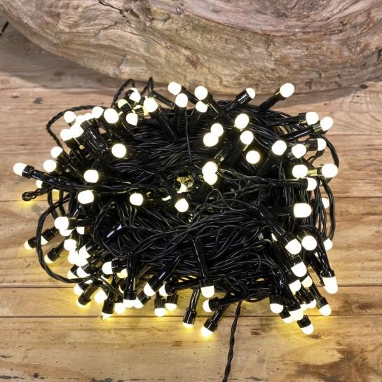 Χριστουγεννιάτικα Λαμπάκια 240 LED Πράσινο Καλώδιο Θερμό Φως Milky Πρόγραμμα Εξωτερικού Χώρου 31W