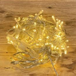Χριστουγεννιάτικα Λαμπάκια 100 LED Διάφανο Καλώδιο Θερμό Φως Επεκτεινόμενα Εξωτερικού Χώρου 31W