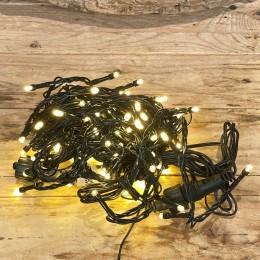 Χριστουγεννιάτικα Λαμπάκια 100 LED Πράσινο Καλώδιο Θερμό Φως Επεκτεινόμενα Εξωτερικού Χώρου 31W