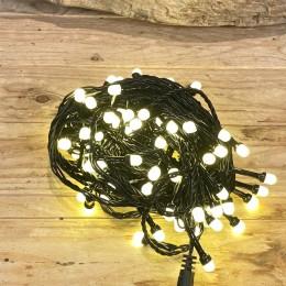 Χριστουγεννιάτικα Λαμπάκια 100 LED Πράσινο Καλώδιο Θερμό Φως Milky Επεκτεινόμενα Εξωτερικού Χώρου 31W