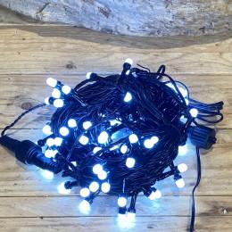 Χριστουγεννιάτικα Λαμπάκια 100 LED Πράσινο Καλώδιο Ψυχρό Φως Milky Επεκτεινόμενα Εξωτερικού Χώρου 31W X