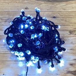 Χριστουγεννιάτικα Λαμπάκια 100 LED Πράσινο Καλώδιο Ψυχρό Φως Διαμαντάκι Επεκτεινόμενα Εξωτερικού Χώρου 31W X