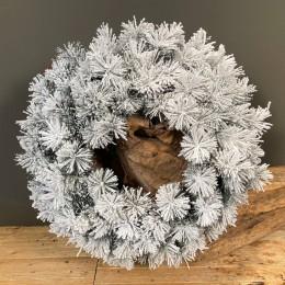 Χριστουγεννιάτικο Στεφάνι Πεύκο Χιονισμένο 70εκ