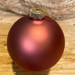 Χριστουγεννιάτικη Μπάλα Γυάλινη Dusty Pink 10εκ