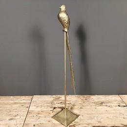 Διακοσμητικό Πουλί Μεταλλικό Χρυσό Αλουμινιίου 83εκ