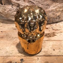 Διακοσμητικός Κάκτος Κεραμικός Χρυσός 14εκ