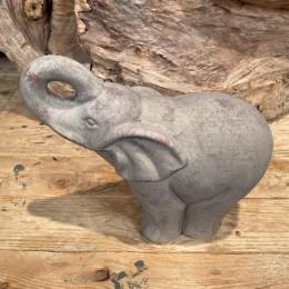 Διακοσμητικός Ελέφαντας Πέτρινος Γκρι 22*19εκ