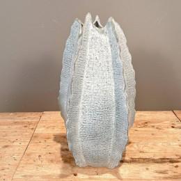 Βάζο Δαπέδου Διακοσμητικό Κεραμικό Γαλάζιο 37*67εκ
