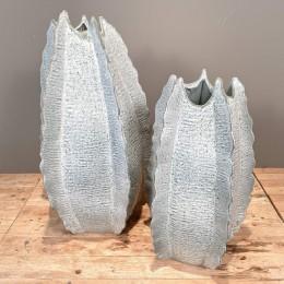 Βάζο Δαπέδου Διακοσμητικό Κεραμικό Γαλάζιο Σετ 67εκ & 53εκ