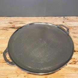 Δίσκος Διακοσμητικός Ασημένιος Μεταλλικός Αλουμινίου Στρογγυλός Χερούλια 49*43εκ