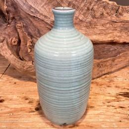Βάζο Διακοσμητικό Κεραμικό Γαλάζιο Κρακελέ 35εκ