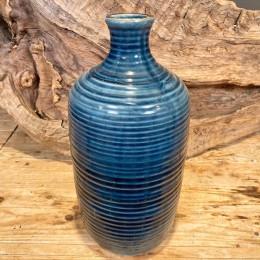 Βάζο Διακοσμητικό Κεραμικό Μπλε Κρακελέ 35εκ