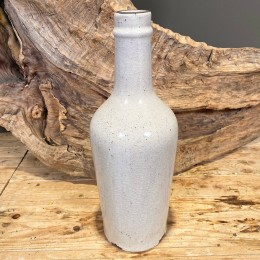 Βάζο Διακοσμητικό Κεραμικό Λευκό Κρακελέ 42εκ