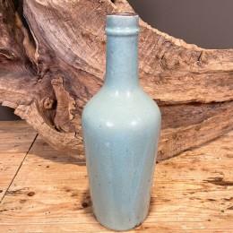 Βάζο Διακοσμητικό Κεραμικό Γαλάζιο Κρακελέ 42εκ