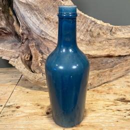 Βάζο Διακοσμητικό Κεραμικό Μπλε Κρακελέ 42εκ