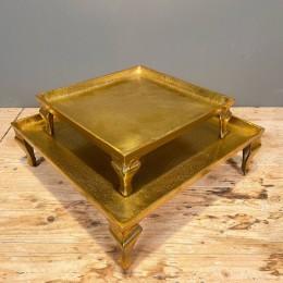 Δίσκος Γάμου Χρυσός Μεταλλικός Αλουμινίου Σετ 39εκ & 28εκ