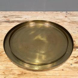 Δίσκος Γάμου Χρυσός Μεταλλικός Αλουμινίου Στρογγυλός Σετ 35εκ & 30εκ
