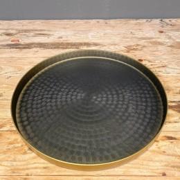 Δίσκος Γάμου Μεταλλικός Στρογγυλός Χρυσό Μαύρο 29εκ