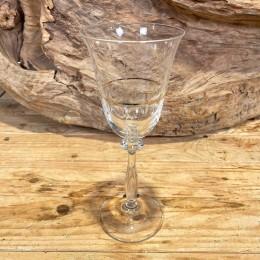Ποτήρι Γάμου Κρασιού Κρυστάλλινο Χρυσή Ρίγα Σχέδιο Λουλουδάκια 9*21εκ