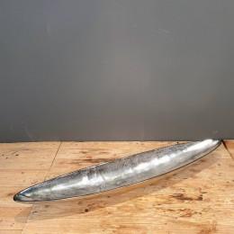Κασπώ Γόνδολα Ασημένια Μεταλλική Αλουμινίου 90*16εκ