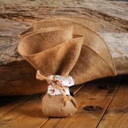 Μπομπονιέρα Γάμου Τσουβάλι Φλοράλ Δέσιμο